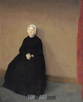 Old Woman, Seated, 1886 | Hammershoi | Painting Reproduction