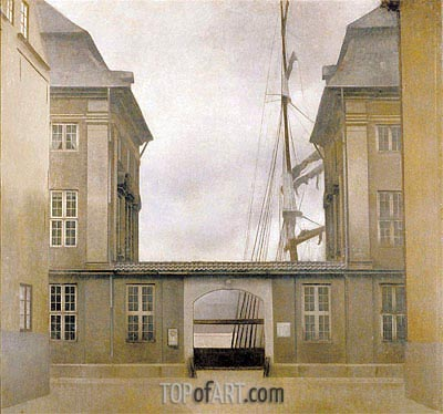 View of the Old Asiatic Company (The Asiatic Company Buildings), 1902 | Hammershoi | Painting Reproduction