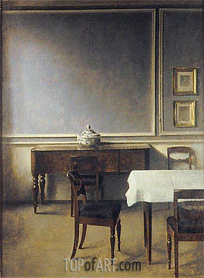Interior with Punch Bowl, 1904 | Hammershoi | Painting Reproduction