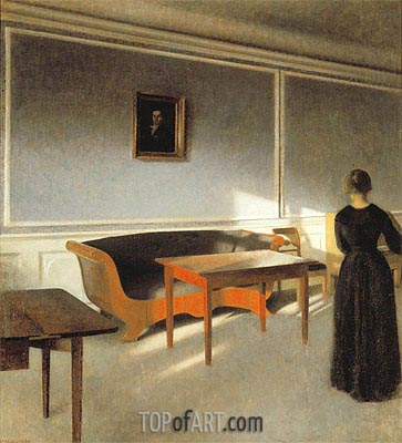 Sunshine in the Living Room I, 1903   Hammershoi   Painting Reproduction