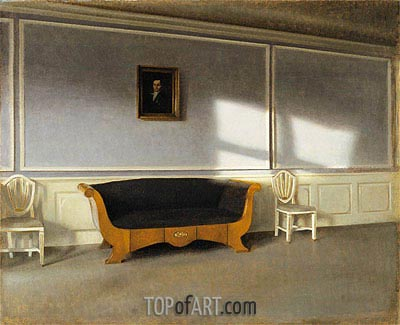 Sunshine in the Living Room III, 1903   Hammershoi   Painting Reproduction