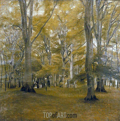 Forest Interior (The Big Trees), 1896   Hammershoi   Painting Reproduction