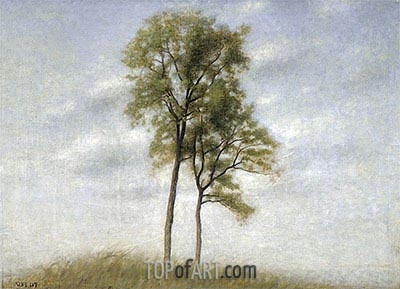Unge Ege (Young Oak Trees), 1907 | Hammershoi | Painting Reproduction