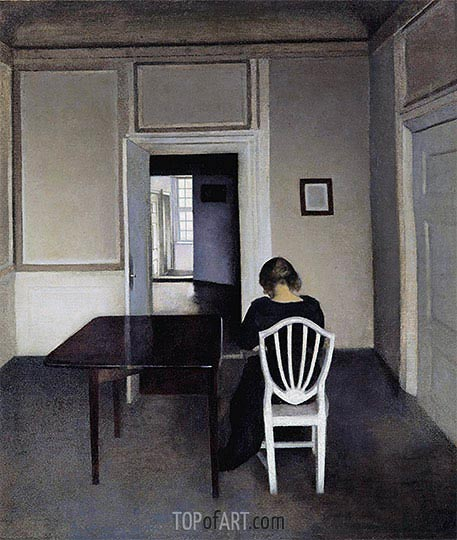 Interior with Ida in a White Chair, 1900 | Hammershoi | Painting Reproduction