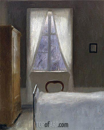 Interior, 1890   Hammershoi   Painting Reproduction