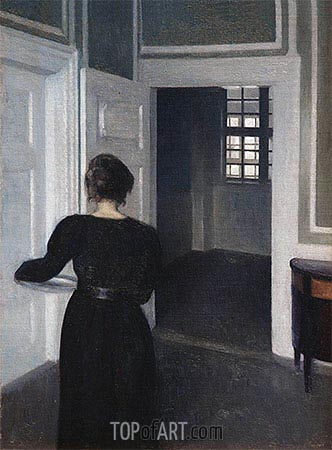Ida in an Interior, 1904 | Hammershoi | Painting Reproduction