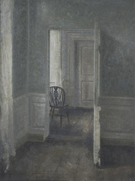 Interior with a Windsor Chair, 1913 | Hammershoi | Painting Reproduction