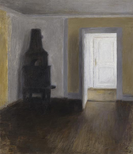 The White Door, 1888 | Hammershoi | Painting Reproduction