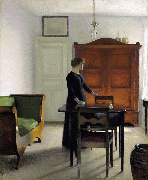 Ida in an Interior, 1897 | Hammershoi | Painting Reproduction