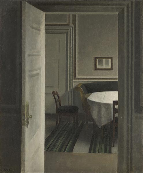 Interior. Strandgade 30, 1904 | Hammershoi | Painting Reproduction