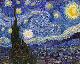 Starry Night, 1889 by Vincent van Gogh | Painting Reproduction