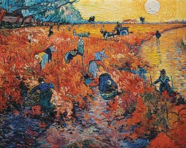 Red Vineyards at Arles | Vincent van Gogh | Painting Reproduction