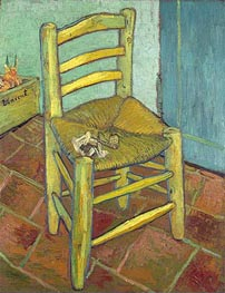 Vincent's Chair with His Pipe, 1888 by Vincent van Gogh | Painting Reproduction
