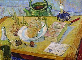 Still Life with a Plate of Onions | Vincent van Gogh | Painting Reproduction