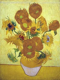 Still Life: Vase with Fourteen Sunflowers, 1889 by Vincent van Gogh | Painting Reproduction
