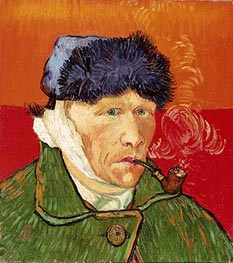 Self Portrait with Bandaged Ear and Pipe | Vincent van Gogh | Painting Reproduction