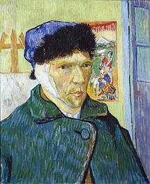 Self-Portrait with Bandaged Ear, 1889 by Vincent van Gogh | Painting Reproduction