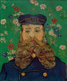 Portrait of the Postman Joseph Roulin | Vincent van Gogh | Painting Reproduction
