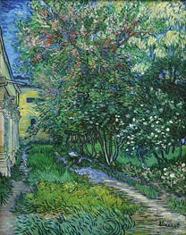 The Garden of the Asylum at Saint-Remy, May 1889 von Vincent van Gogh | Gemälde-Reproduktion