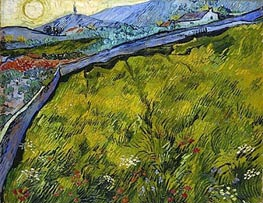 Field of Spring Wheat at Sunrise, 1889 von Vincent van Gogh | Gemälde-Reproduktion