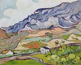 Les Alpilles, Mountainous Landscape, Saint-Remy, 1889 by Vincent van Gogh | Painting Reproduction