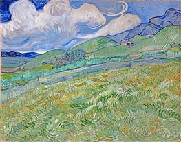 Mountainous Landscape Behind Saint-Paul Hospital, 1889 by Vincent van Gogh | Painting Reproduction