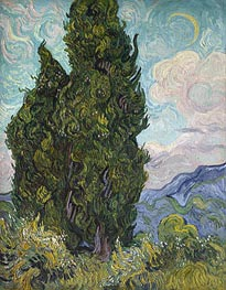 Cypresses | Vincent van Gogh | Painting Reproduction