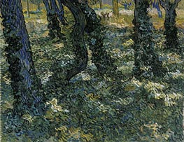 Undergrowth, 1889 by Vincent van Gogh | Painting Reproduction
