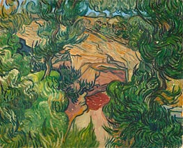 Entrance to a Quarry, 1889 von Vincent van Gogh | Gemälde-Reproduktion