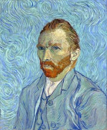 Self Portrait, 1889 von Vincent van Gogh | Gemälde-Reproduktion