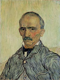 Portrait of Superintendant Trabuc in St. Paul's Hospital, 1889 von Vincent van Gogh | Gemälde-Reproduktion