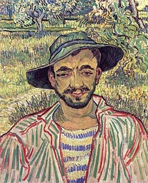 Portrait of a Young Peasant, 1889 von Vincent van Gogh | Gemälde-Reproduktion