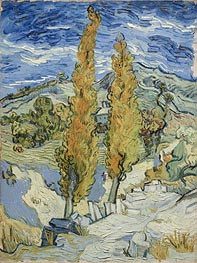 The Poplars at Saint-Remy, 1889 von Vincent van Gogh | Gemälde-Reproduktion