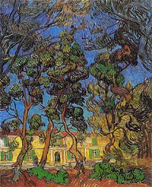 Trees in the Garden of Saint-Paul Hospital, 1889 von Vincent van Gogh | Gemälde-Reproduktion