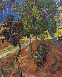 Garden of St. Paul's Hospital, 1889 von Vincent van Gogh | Gemälde-Reproduktion