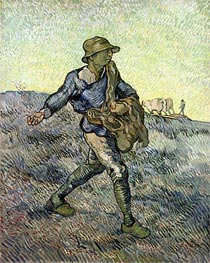 The Sower (after Millet), 1889 von Vincent van Gogh | Gemälde-Reproduktion