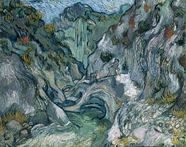 Les Peiroulets Ravine | Vincent van Gogh | Painting Reproduction