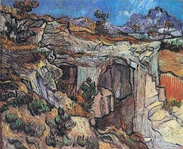 Entrance to a Quarry near Saint-Remy, 1889 von Vincent van Gogh | Gemälde-Reproduktion