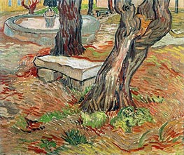 The Stone Bench in Garden of Saint-Paul Hospital, 1889 von Vincent van Gogh | Gemälde-Reproduktion