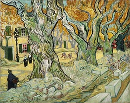 The Road Menders, 1889 von Vincent van Gogh | Gemälde-Reproduktion