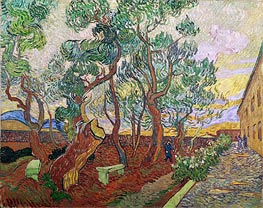 The Garden of Saint-Paul Hospital, 1889 von Vincent van Gogh | Gemälde-Reproduktion