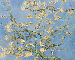 Blossoming Almond Tree, 1890 von Vincent van Gogh | Gemälde-Reproduktion