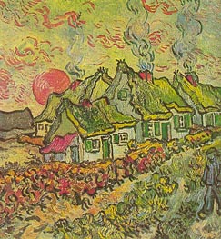Cottages - Reminiscence of the North, 1890 by Vincent van Gogh | Painting Reproduction