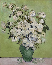 Vase of Roses, 1890 by Vincent van Gogh | Painting Reproduction