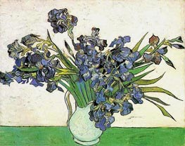 Still Life - Vase with Irises | Vincent van Gogh | Gemälde Reproduktion