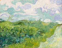 Green Wheat Fields, May 1890 by Vincent van Gogh | Painting Reproduction
