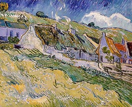 Cottages at Auvers-sur-Oise, 1890 by Vincent van Gogh | Painting Reproduction