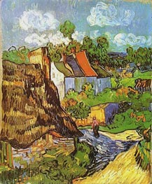 House in Auvers, May 1890 by Vincent van Gogh | Painting Reproduction