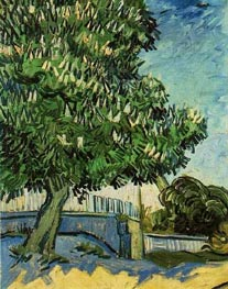 Chestnut Tree in Blossom, 1890 by Vincent van Gogh | Painting Reproduction