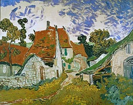 Village Street in Auvers, 1890 by Vincent van Gogh | Painting Reproduction